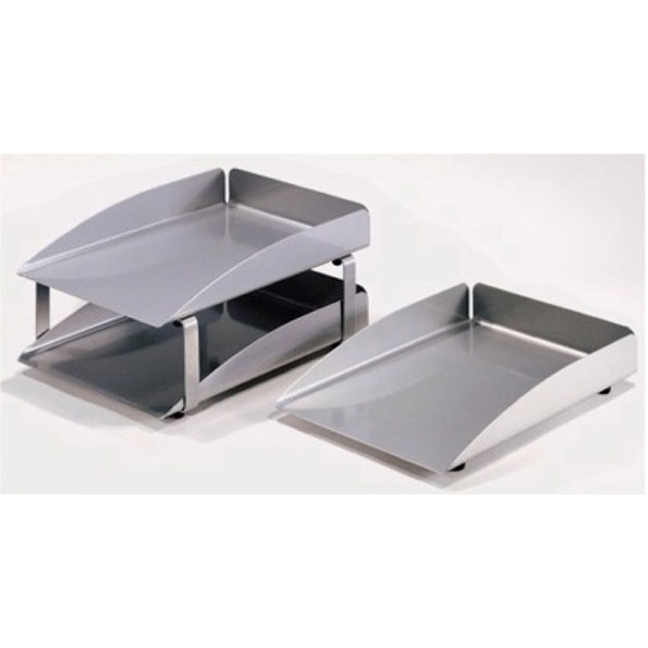 MODERN LETTER TRAYS SILVER
