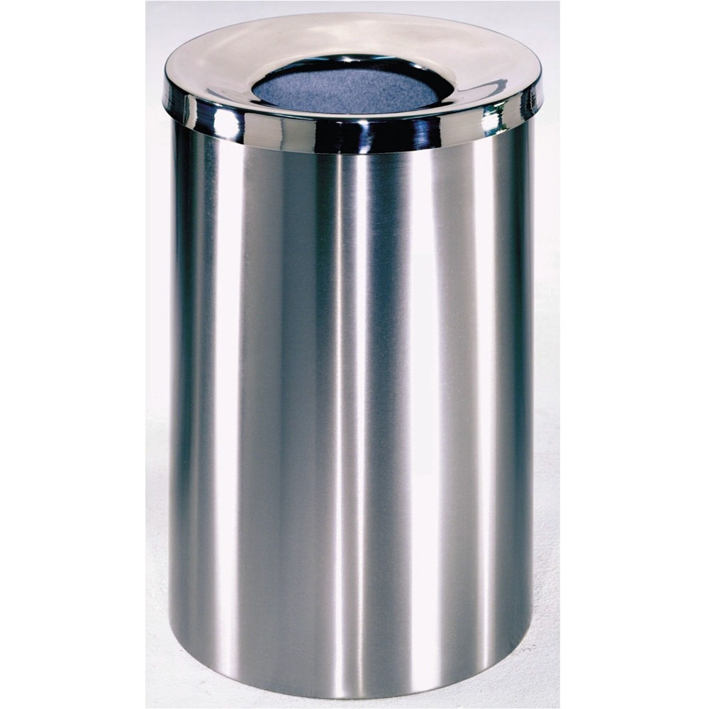 POLISHED WIDE BIN WITH FUNNEL LID