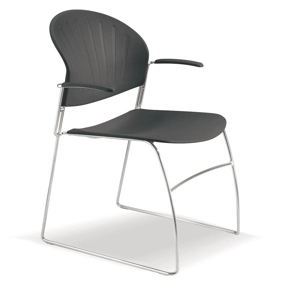 Marlin Black Arm Chair