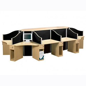 10 Man Call Centre Desk Pod