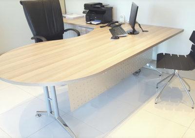 Coimbra & Stainless Stell Desk