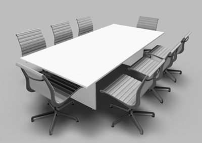 Boardroom Rectangle White